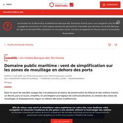 Domaine public maritime : vent de simplification sur les zones de mouillage en dehors des ports