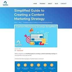 Simplified Guide to Creating a Content Marketing Strategy
