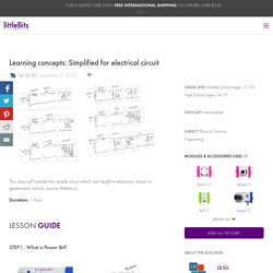Learning concepts: Simplified for electrical circuit: a littleBits Project by LB SG