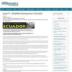 Issue 71: Simplified Hydroponics in Ecuador