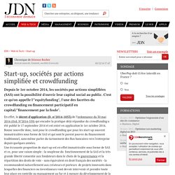 Start-up, sociétés par actions simplifiée et crowdfunding