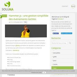 Hammer.js : une gestion simplifiée des événements tactiles