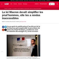 La loi Macron devait simplifier les prud'hommes, elle les a rendus inaccessibles