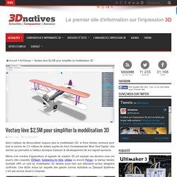 Vectary lève $2,5M pour simplifier la modélisation 3D