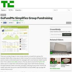 GoFundMe Simplifies Group Fundraising