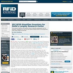 EPC RFID Simplifies Inventory for NASA's Langley Research Center