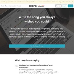 Free software that simplifies songwriting - Hookpad