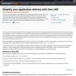 Simplify your application delivery with One-JAR