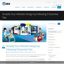 Simplify Your Website Design by Following 9 Essential Tips