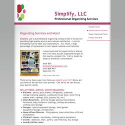 Simplify, LLC - Organizing Services and More!