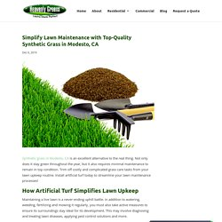 Simplify Lawn Upkeep with High-Quality Synthetic Grass in Modesto, CA