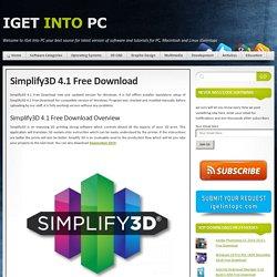 Simplify3D 4.1 Free Download