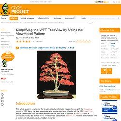 Simplifying the WPF TreeView by Using the ViewModel Pattern