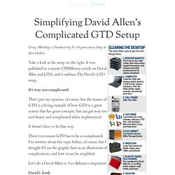 Simplifying David Allen's Complicated GTD Setup