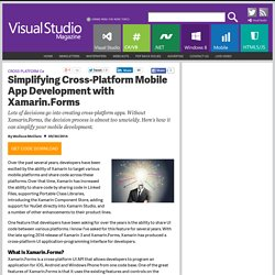 Simplifying Cross-Platform Mobile App Development with Xamarin.Forms