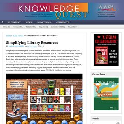 Simplifying Library Resources