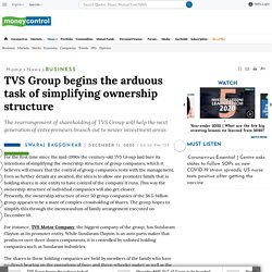 TVS Group Begins The Arduous Task Of Simplifying Ownership Structure