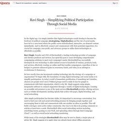 Ravi Singh – Simplifying Political Participatio... - Ravi Singh - Quora