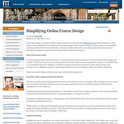 Simplifying Online Course Design