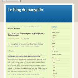 Un ORM simplissime pour CodeIgniter : datamapper - Le blog du pangolin