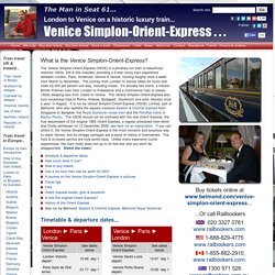 London to Venice 2015 timetable, prices & tickets