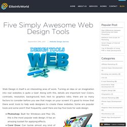 Five Simply Awesome Web Design Tools