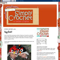 Simply Crochet and Other Crafts: Angry Birds!!