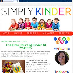 Simply Kinder: The First Hours of Kinder (& Beyond!)