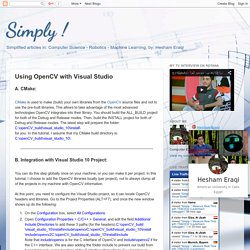 Simply !: Using OpenCV with Visual Studio