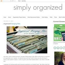 simply organized: organized hanging files