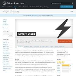 Simply Static — WordPress Plugins