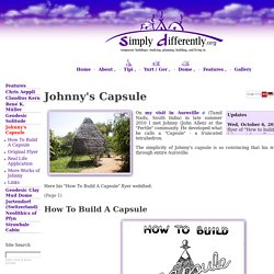 SimplyDifferently.org: Johnny's Capsule