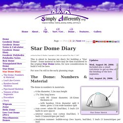SimplyDifferently.org: Star Dome Diary