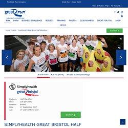 Simplyhealth Great Bristol Half Marathon - Sunday 17th September 2017