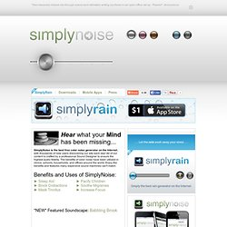 SimplyNoise.com - The best free white noise generator on the Internet.