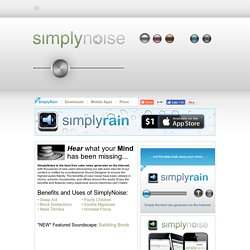 SimplyNoise - The Best Free White Noise Generator on the Interne