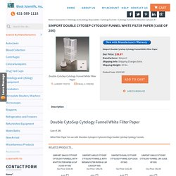 Simport M965FWD Double CytoSep White Filter Paper