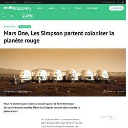 Mars One, Les Simpson partent coloniser la planète rouge