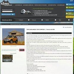 TENTE ARB ANNEXE TENTE SIMPSON - Tous nos produits 4x4, camping car, bateau et quad