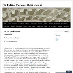 Pop Culture: Politics of Media Literacy