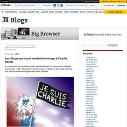 Les Simpsons aussi rendent hommage à Charlie Hebdo