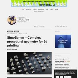 SimpSymm - Complex procedural geometry for 3d printing