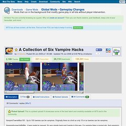 Mod the Sims 2 - A Collection of Six Vampire Hacks