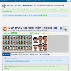 Mod the Sims 2 - Set of CAS face replacement templates