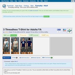 Mod The Sims - 3 Threadless T-Shirt for Adults/YA