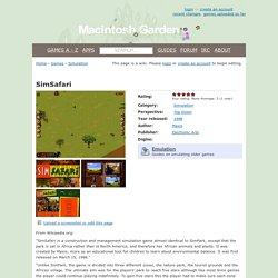 SimSafari - Macintosh Garden