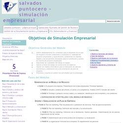 Objetivos de Simulación Empresarial - salvados puntocero - simulación empresarial