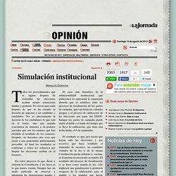 Simulación institucional