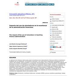 Impacto del uso de simuladores en la enseñanza de la administración financiera