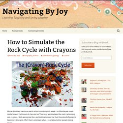How to Simulate the Rock Cycle with Crayons - Navigating By Joy
